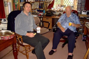 Rob David with Sir Patrick Moore